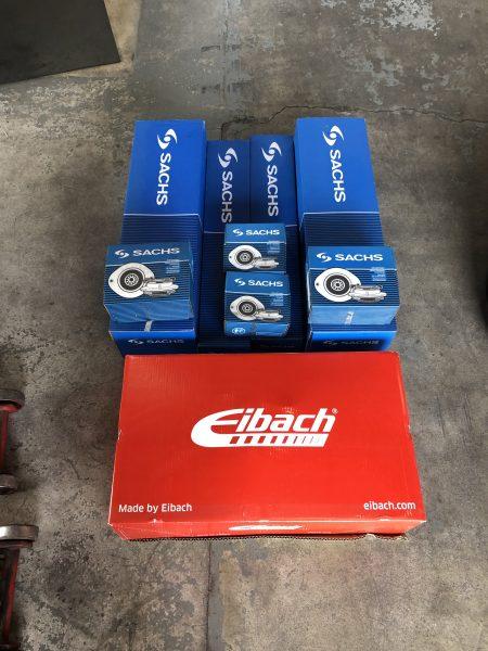 【Eibach】ダウンスプリングによるローダウン BMW E38 7シリーズ